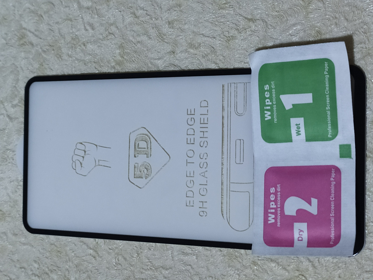 Захисне скло 5D Samsung A71 (чорний)