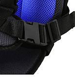 Детское автокресло бескаркасное 9-36 кг. Кресло автомобильное до 12 лет  портативное  (синее), фото 5