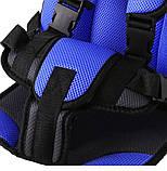 Детское автокресло бескаркасное 9-36 кг. Кресло автомобильное до 12 лет  портативное  (синее), фото 7