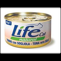 Life cat тунец с камбалой 85g
