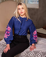 Женская современная вышитая блуза