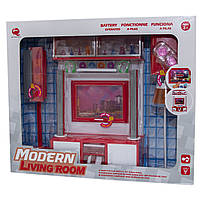 """Набор кукольной мебели """"Современная комната""""-3, красная, 42*10.5*35.5см арт. 26239"""