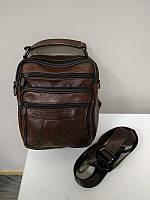 """Мужская кожаная сумка среднего размера коричневая """"Валидо Light Brown"""", фото 1"""