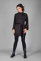 Кардиган-пальто из высококачественного теплого трикотажа на меховой основе
