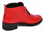 Ботинки женские демисезонные из натуральной кожи на низком каблуке от производителя модель МАК2070, фото 2