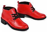 Ботинки женские демисезонные из натуральной кожи на низком каблуке от производителя модель МАК2070, фото 3