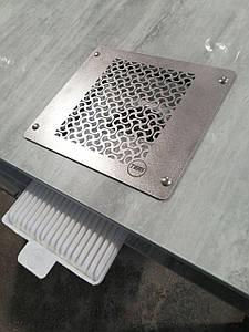 Пылесос для маникюра Teri Turbo встраиваемая в стол маникюрная вытяжка с HEPA фильтром (нержавеющая сетка)