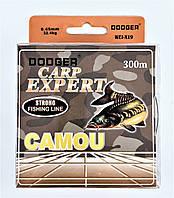 Карповая леска Carp Expert Dodger 300 метров черно-зеленая