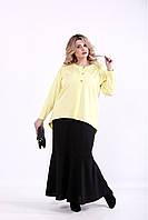 01373-1 | Комплект: черное платье и желтый жакет большого размера 60 +98 грн.