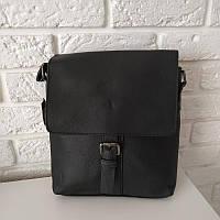 """Вместительная мужская кожаная сумка-планшет на длинном ремне """"Хавер 2"""", фото 1"""