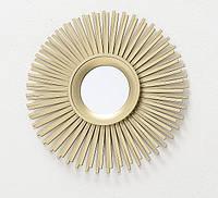Настенный декор зеркало солнце Лагуна D25cm золото 1013893-1 луч
