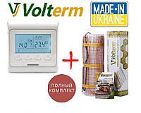 Теплый пол Volterm Hot Mat 210Вт/1.3 м²  нагревательный мат с программируемым терморегулятором E51