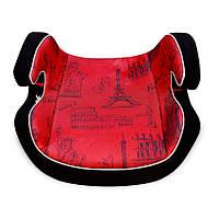 Детское автокресло-бустер Bertoni Venture Black&Red Cities