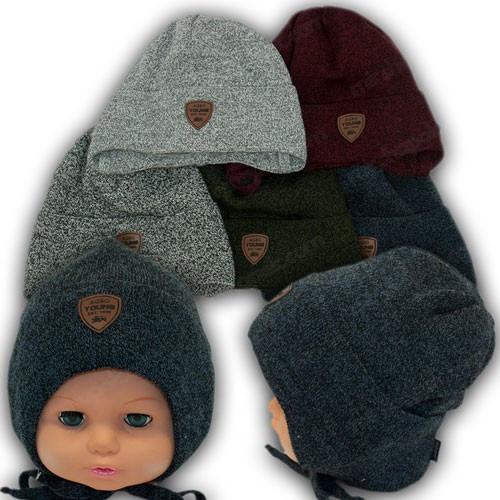 ОПТ Весенние шапки на завязках для мальчика, р. 46-48 (5шт/упаковка)
