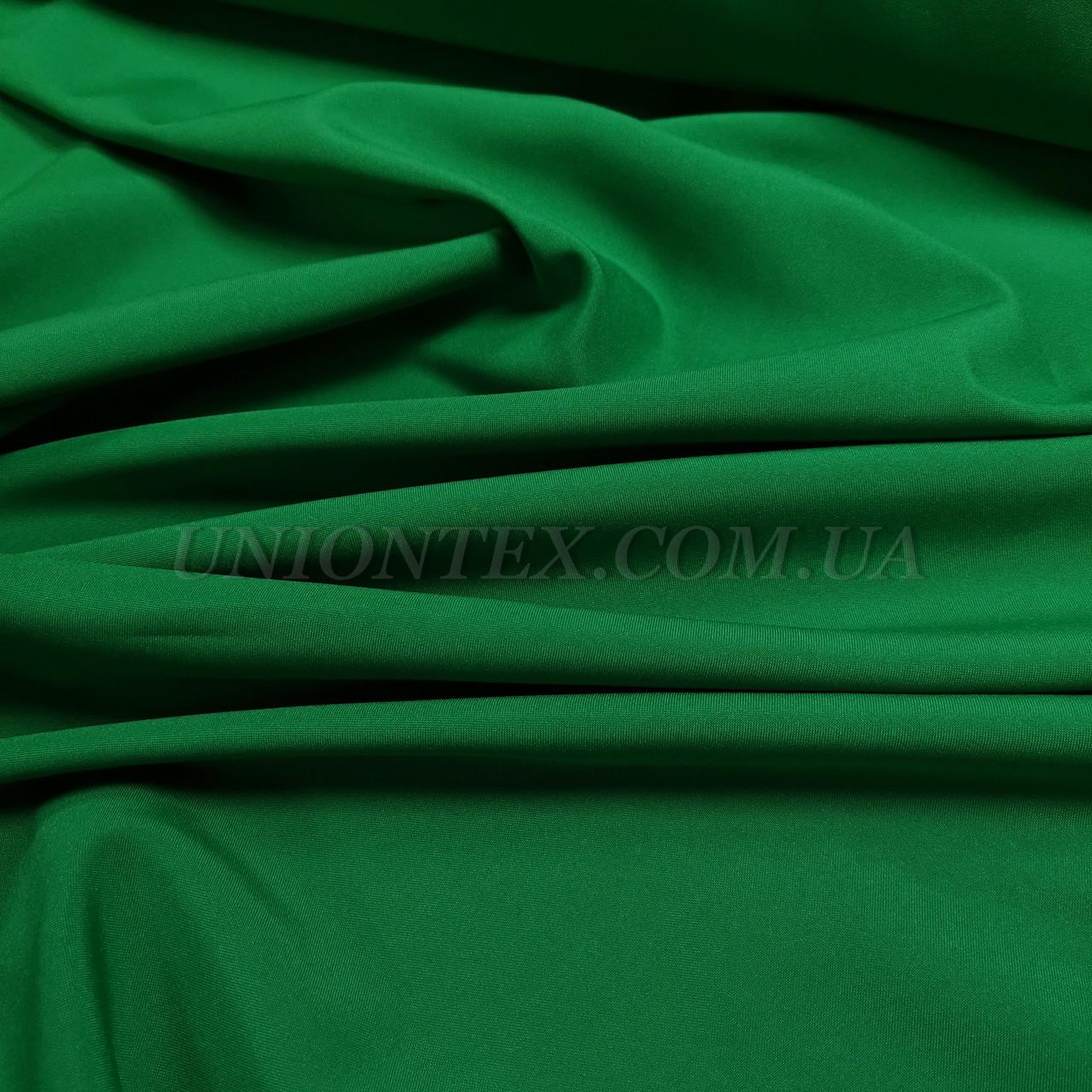 Ткань габардин зеленый трава