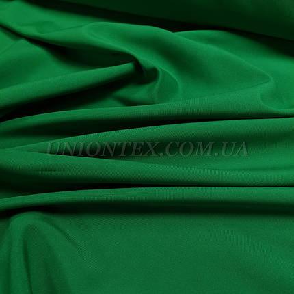 Ткань габардин зеленый трава, фото 2
