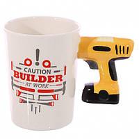 Керамическая чашка Caution Building дрель