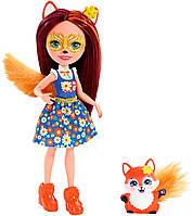 Лисичка Фелісіті і Флік Енчантімалс, Enchantimals Felicity Fox Doll, фото 1