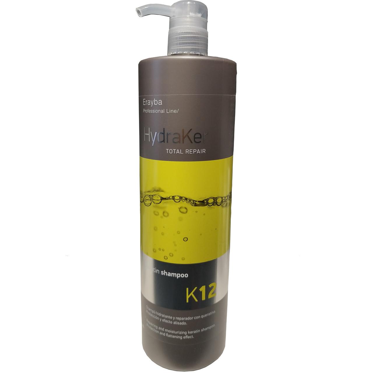Шампунь для волос Erayba HydraKer Keratin Shampoo К12 1000 мл