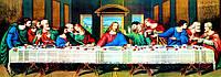 """Набор алмазной вышивки икона """" Тайная вечеря """" Леонардо да Винчи, частичная выкладка,мозаика 5d, 80х30 см"""
