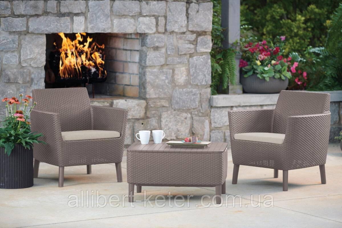 Комплект садовой мебели Allibert - Keter Salemo Balcony Lounge Set из искусственного ротанга
