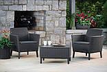 Комплект садовой мебели Allibert - Keter Salemo Balcony Lounge Set из искусственного ротанга, фото 2
