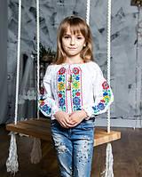 Детская хлопковая блуза для девочки в школу