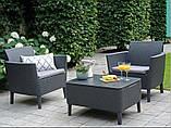 Комплект садовой мебели Allibert - Keter Salemo Balcony Lounge Set из искусственного ротанга, фото 4