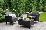Комплект садовой мебели Allibert - Keter Salemo Balcony Lounge Set из искусственного ротанга, фото 6