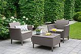 Комплект садовой мебели Allibert - Keter Salemo Balcony Lounge Set из искусственного ротанга, фото 8