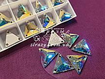 Swarovski Треугольник 16мм. Crystal AB