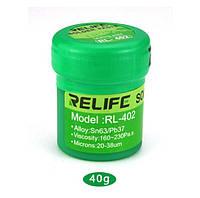 Паяльная паста RELIFE RL-402 Sn63/Pb67 40г безотмывочная