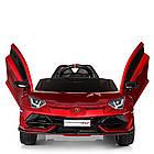 Электромобиль детский Lamborghini M 4093 EBLRS-3 автопокраска красный, фото 5