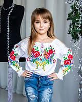 Нарядная вышитая блуза детская для девочки в школу