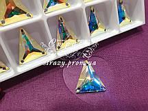 Swarovski Трикутник 18*21мм. Crystal AB