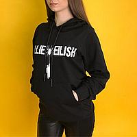 Худи Billie Eilish черная, толстовка женская с капюшоном