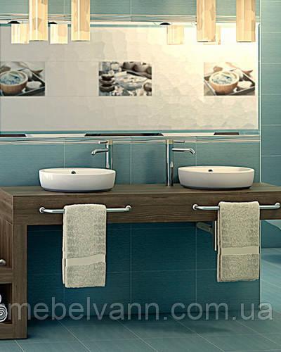 Плитка для ванной Olivia blue Cersanit Оливия 25*40 Церсанит
