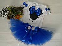 Набор День Рождения боди+юбка пачка Синий