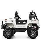Детский электромобиль Jeep Wrangler 4WD M 4178EBLR-1 белый, фото 4