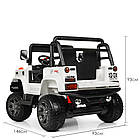 Детский электромобиль Jeep Wrangler 4WD M 4178EBLR-1 белый, фото 6