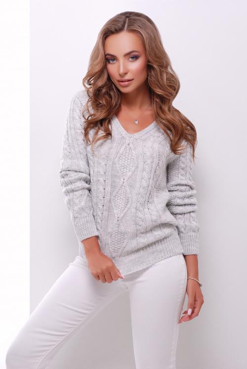 Джемпер 139 светло-серый