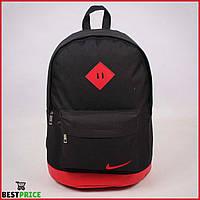 Спортивный городской рюкзак Nike Черный с красным