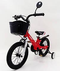 Детский двухколесный велосипед 1450D-HAMMER HUNTER красный. Магниевая рама (Magnesium)