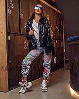 Женская лаковая  куртка Moncler - демисезон