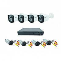 Комплект DVR регистратор 4-канальный и 4 камеры 1 MP