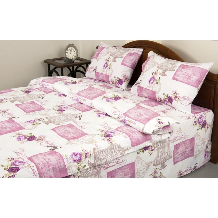 Постельное белье Lotus Ranforce - Veronica розовый евро