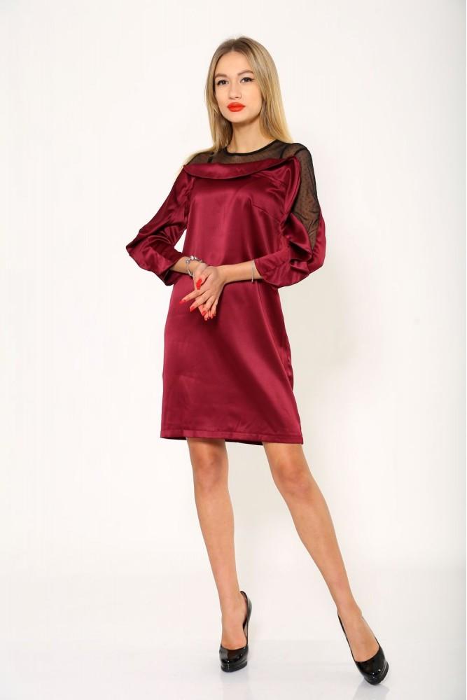 Платье женское цвет Бордовый размер 36