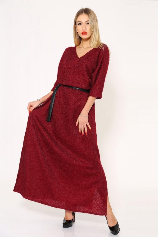 Платье женское цвет Бордовый размер 40