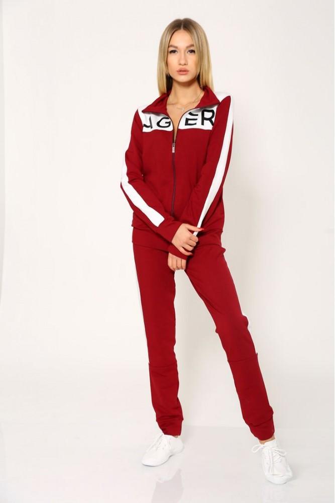 Спорт костюм женский цвет Бордовый