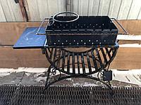 Мангал кованный на 8 шампуров + кочерга и совок, модель 2